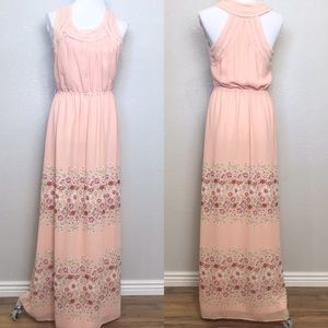 Chelsea and Violet peach floral maxi dress
